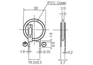 VL2020-1VCE Panasonic 20mAh 3.0V